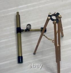 112 Vintage Artisan Handcrafted Tripod Telescope Dollhouse Miniature