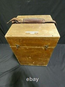 1935 Vintage W. & L. E Gurley Surveyor transit with wooden box & tripod