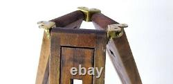 1 Vintage EASTKO Camera Wooden Tripod 21 To 48 Adjustable Tripod Signed EASTKO