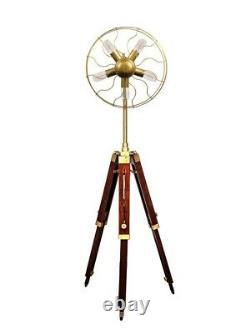 Antique Tripod Stand Fan 5 Light Modern Vintage Designer Lamp Office Home Decor