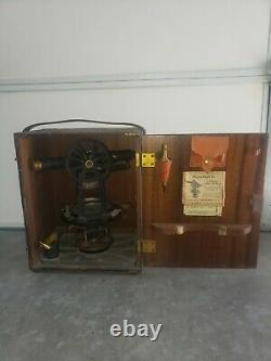 Antique Vintage 57611 Keuffel & Esser Surveyor with original Wooden box & Tripod