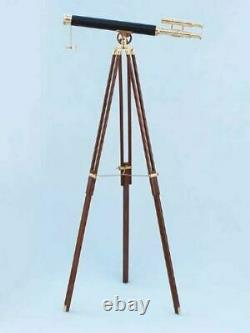 Antique Vintage Brass Floor Standing Telescope With Tripod Stand Christmas Gift