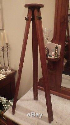 Antique Vintage Rochester Optical Wood Camera Tripod