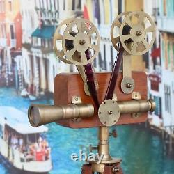 Antique Vintage Style Projector With Wooden Tripod Stand Gift