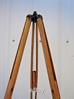 Antique Vintage Surveyor's Surveying Transit Wood Wooden Tripod