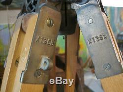 Antique Vintage Wood Tripod for Surveying Surveyor Survey Transit Compass Level