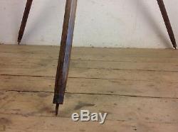 Antique Wooden Camera tripod Vintage spotlight stand floor standing light old