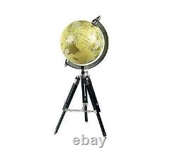 Antique vintage floor stand 25 world globe ornament on wooden tripod good gift