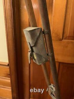 Antique vintage wooden brass tripod 36 to 60 Navy telescope/photography