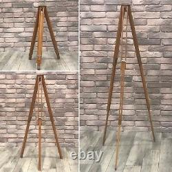 BERLEBACH Vintage Antique Wooden Adjustable TRIPOD Camera Stand 22 to 55