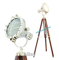 Beautiful Floor lamp vintage model theme spotlight brown wooden tripod