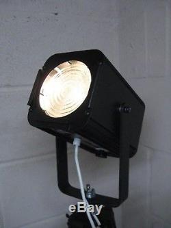 Bespoke Vintage Industrial Style Stage Lamp Wooden Tripod Floor/Standard Lamp