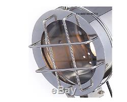 Black Wooden Vintage Hollywood Nautical Lamp Search Spot Light Tripod Spotlight