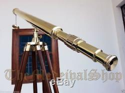 Brass Marine Tripod Telescope Vintage Style Collectible Port Island Antique Gift