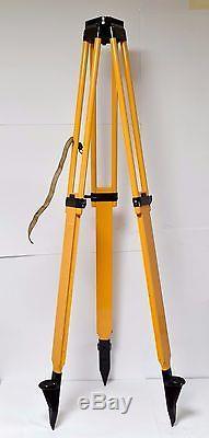 Carl Zeiss wooden Tripod Geodesy Loft Lamp Tripod wooden Vintage Jena Level