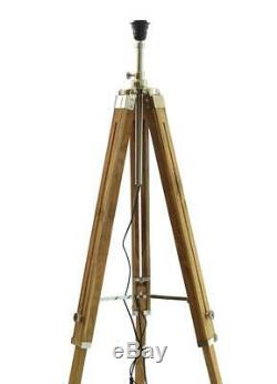 Classical Designer Marine Tripod Floor Lamp Stand Retro Vintage Wooden Tripod