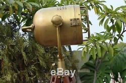 Collectible Vintage Marine Industrial Spotlight Tripod Floor Lamp Antique Style