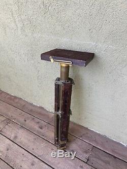 Crown Graflex Compact Stand Wooden Tripod VINTAGE