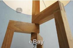 D89 Vintage E27 Height 169CM Fabric Lampshade Wood Tripod Bedroom Floor Lamp