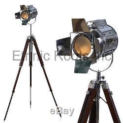DESIGNER look Vintage Design searchlight Spotlight Telescopic Tripod Floor lamp
