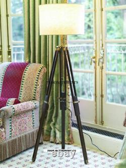 Designer Marine Tripod Floor Lamp Retro Vintage Wood Floor Lamp Handmade Gift