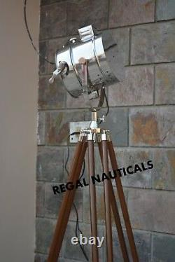Designer Marine Tripod Floor Lamps Searchlight Vintage Floor Spot Spot Light
