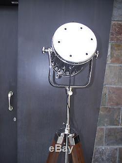 Floor Focus Tripod Searchlight Lamps Spotlights With Brown Tripod Vintage Retro