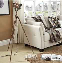 Floor Lamp Living Room Kitchen Vintage Industrial Copper Spotlight Tripod Light