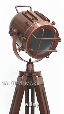 Floor Lamps Lighting Vintage Decorative Marine Nautical Search Wooden Tripod
