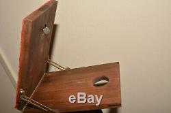 Folmer Compact Stand Vintage Wooden Platform Tripod By Folmer Graflex Corp