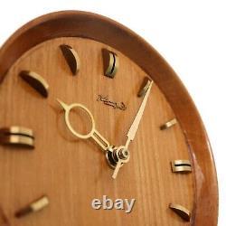 German KIENZLE TRIPOD Vintage Mantel Clock DESIGN! 60s HIGH GLOSS! Mid Century