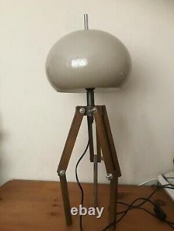 HARVEY GUZZINI Vintage 1960s/1970s Mushroom Lamp on an adjustable Wooden Tripod
