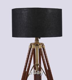 Hollywood Nautical Vintage Searchlight Brass Floor Lamp Spotlight Floor Tripod