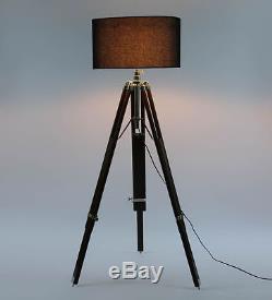 Hollywood Nautical Vintage Searchlight Floor Lamp Spotlight Floor Tripod