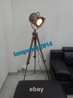 Hollywood Retro UnixSearch Light Vintage Spot Studio Lamp Adjustable Wood Tripod