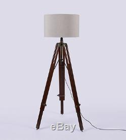 Hollywood Spot Light Floor Lamp With Antique Tripod Stand Vintage Collectible