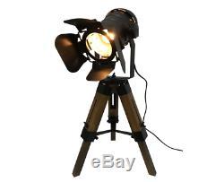 Hollywood Vintage Retro Industrial Spotlight Searchlight Lamp Light Tripod New