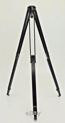 Holz Stativ Wooden Tripod Dreibein Holzstativ 45 130 cm Vintage historic wu091
