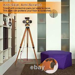 Industrial Spotlight Tripod Floor Lamp for Living Room Bedroom, Vintage