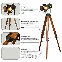 Industrial Spotlight Tripod Floor Lamp for any room, Vintage, Retro Stlye