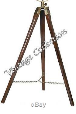 Industrial Style Vintage Nautical Spotlight Floor Standing Light w Tripod Stand