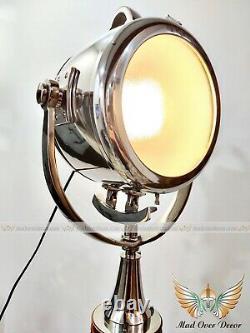 Industrial Wood Tripod Light Cinema Lamp Retro Spotlight Farmhouse Vintage Decor