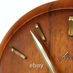 KIENZLE HAID TRIPOD Vintage Mantel Clock ICONIC DESIGN! 1950s HIGH GLOSS! 8 Days