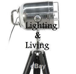 Large Vintage Retro Spotlight Tripod Floor Lamp Nautical home Decor Gift light