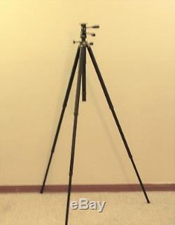Leica-Leitz 4602 Tiltall Professional Tripod Vintage Classic Black Leather Case