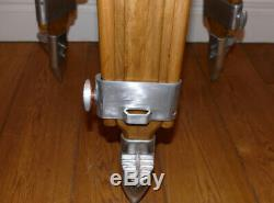 Lovely vintage wooden surveyors tripod stripped aluminium american import