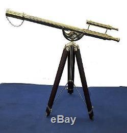 Maritime Brass Telescope Master Harbor Vintage Solid Brass Adjustable Tripod