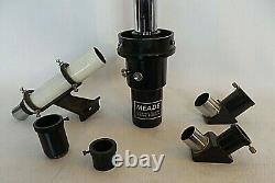 Meade Astronomical Telescope D=80mm F=1200mm Japan withBox, Vintage Wood Tripod