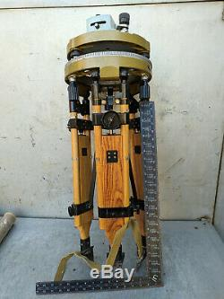 Military Level Theodolite Wooden Tripod Vintage USSR