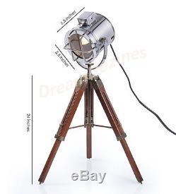 Mini Tripod Lamp Vintage Floor Lamp Spotlight Vintage Style Nautical Lamp